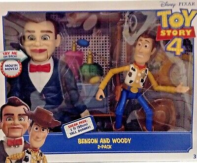 Disney Pixar Toy Story 4 Benson and Woody Action Figures 2 Pack Kid Toys Gift