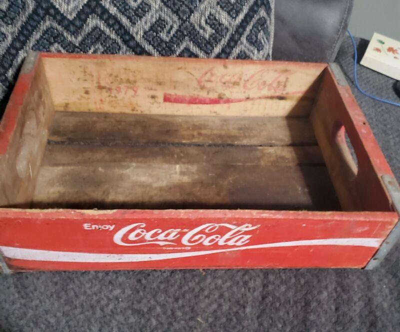 Vintage Wood Coca-Cola COKE Bottle Case Wooden Crate Tray