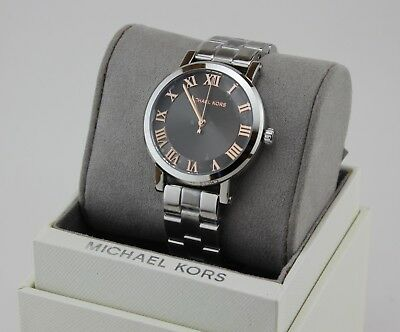 NEW AUTHENTIC MICHAEL KORS NORIE SILVER GREY WOMEN'S MK3559 WATCH