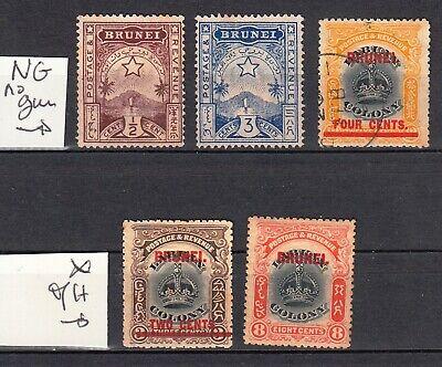BRUNEI 1895 1906 MH *  , used   SG CV 42£  57$  british colonies