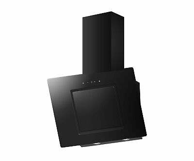 PKM Campana 50cm Cristal Negro sin Cabezal LED Estrecho Recirculación Escape