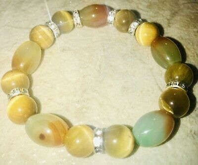 Ladys Yellow Tigers Eye & Barrel Agate Natural Stone -