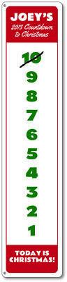 Christmas Countdown Sign, Custom Kid's Christmas Sign, Vertical Sign ENSA1000086 - Christmas Countdown Sign