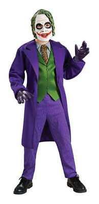 KIDS BATMAN DARK KNIGHT JOKER MASK DELUXE COSTUME DRESS - Batman Joker Kids Costume