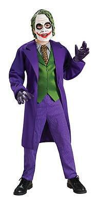 KIDS BATMAN DARK KNIGHT JOKER MASK DELUXE COSTUME DRESS - Joker Maske Dark Knight Kostüm