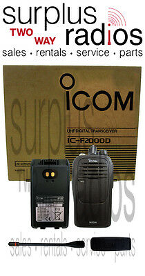 Icom F2000d 01 Idas Digital Uhf 4 Watt 16 Channel 400-470mhz Radio Club Office