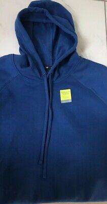Men Big And Tall Tek Gear Hoodie Ultrasoft Fleece Lined Sweatshirt 4XB BLUE New