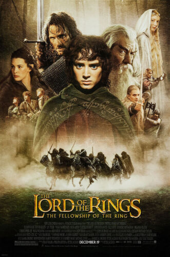 LORD OF THE RINGS FELLOWSHIP OF THE RING MOVIE POSTER SS ORIGINAL FINAL 27x40
