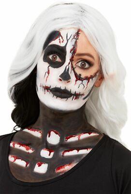 Skelett Gesichtsfarbe Make-Up Satz Leuchten Im Dunklen Halloween Kostüm Schminke