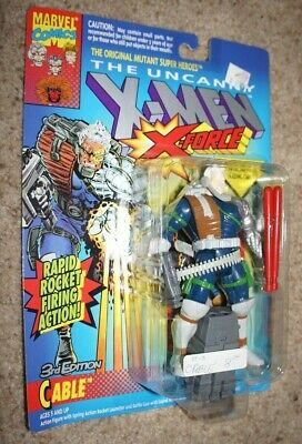 Cable 3rd Edition Uncanny X-men Marvel X-force Vintage Toy Biz 1993 Deadpool