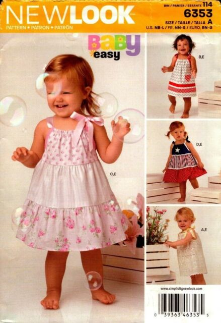 New Look Pattern 6353 Babies Dress