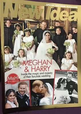 NEW IDEA Meghan & Harry Royal Wedding 2018 SPECIAL SOUVENIR MAGAZINE: NEW - Wedding Souvenirs Ideas