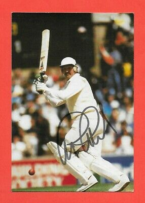 Graham Gooch Signed Postcard Former England Test Cricketer Cricket