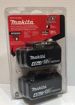 Genuine Makita BL1840B-2 18V LXT Lithium-Ion Battery Pack 4.