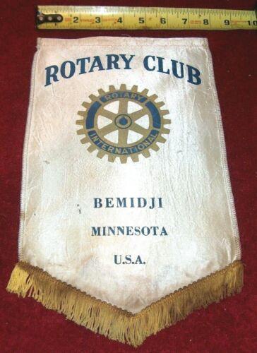 VINTAGE Rotary International Club wall banner flag   BEMIDJI  MINNESOTA