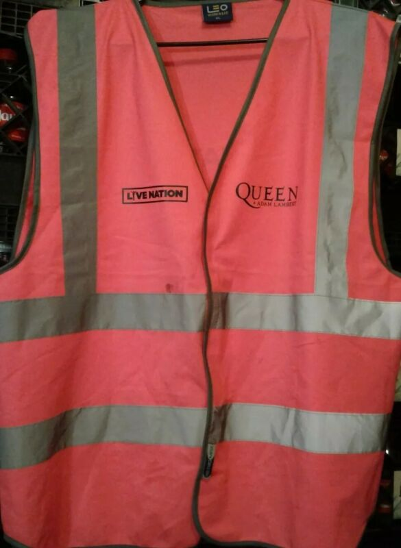 Queen And Adam Lambert The Rhapsody Tour Pink Local Crew Safety Vest