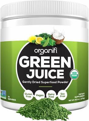 Organic Green Juice Superfood Powder Dietary Supplement Cleanser Detox- 9.5oz.