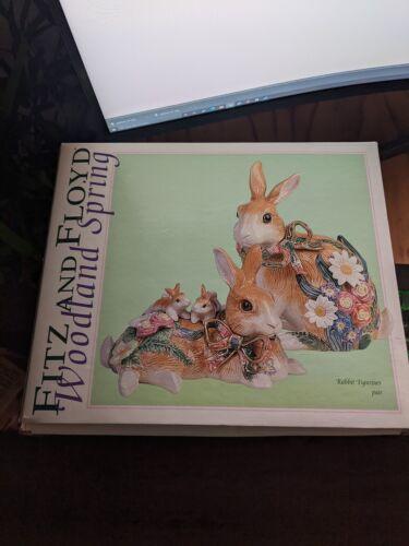 Fitz and Floyd Rabbit Figurines Pair
