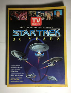 T.V Guide Star Trek 30 Years 1996 Book and map poster