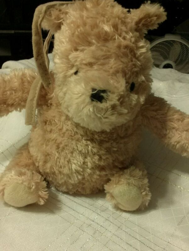 Disney Classic Pooh Musical Baby Plush Pull Toy Lovey Plays Winnie the Pooh