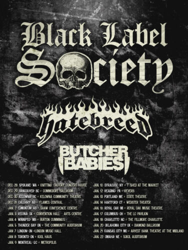 BLACK LABEL SOCIETY/HATEBREED 2014 NORTH AMERICA CONCERT TOUR POSTER-Heavy Metal