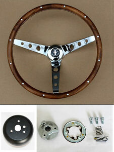 New! 1965-1969 Ford Mustang Grant Steering Wheel Wood 15