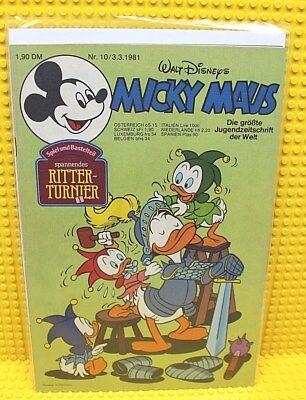 Walt Disney® Micky Maus Nr 10 von 1981 mit Schnipp und Beilage