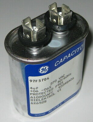 4 uF AC Motor Run Capacitor - 370 VAC - 50 / 60 Hz - 6% - 1/4