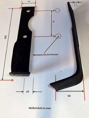 Hackmesser 195x50x21 LS für Agria 1250 210 98 Fräsmesser links