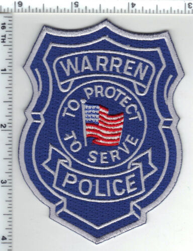 Warren Police (Michigan) Shoulder Patch from the 1980