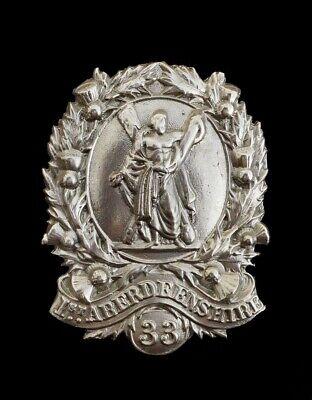 1st Aberdeenshire Rifle Volunteers Shako Badge Hallmarked Silver
