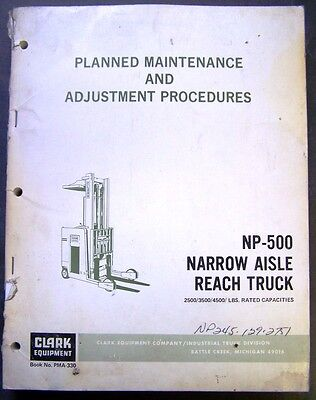 Clark Np 500 Narrow Aisle Forklift Dealer Service Manual   Pma 330