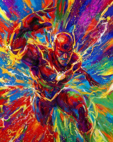 Blend Cota The Flash 14 x 11 Art Print DC Comic Art