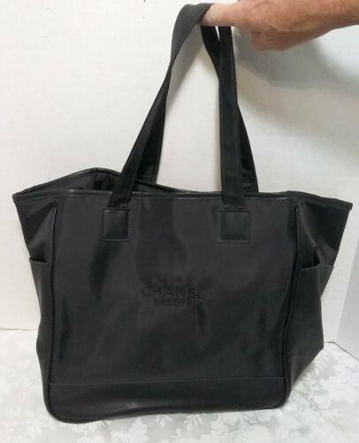 CHANEL Tote Bag New Travel Line Black Nylon 78334 New