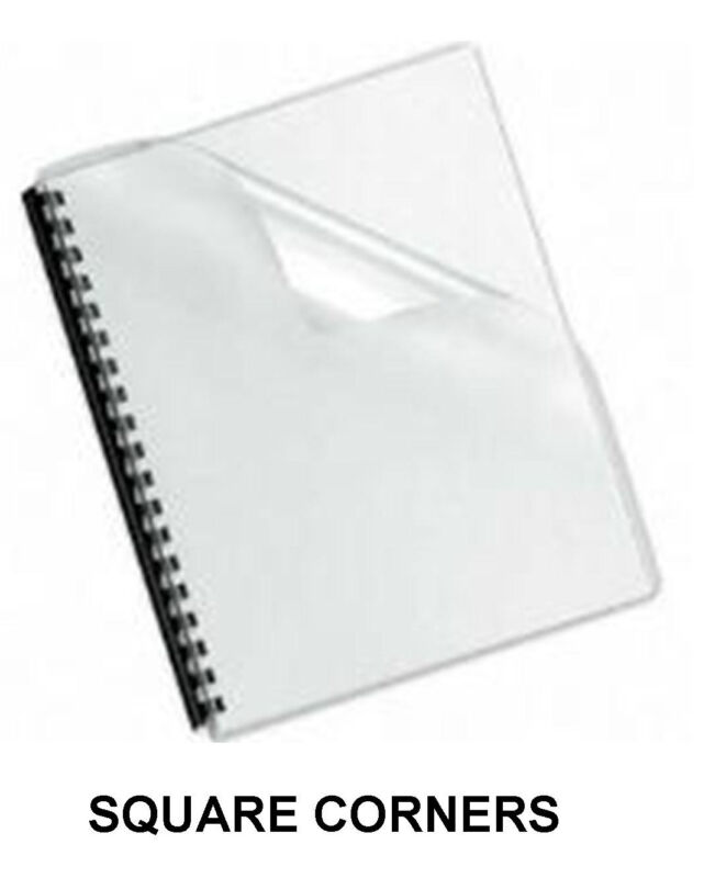 Clear Plastic Binding Covers - 7 Mil. -  100 Sheets