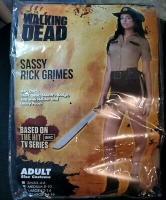 Sassy Rick Grimes Halloween Costume Sheriff The Walking - Rick Halloween Kostüm