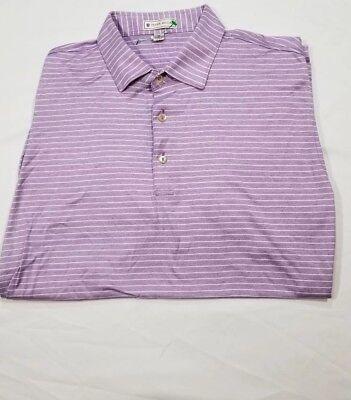 Peter Millar Meridian Golf Club Polo Shirt Mens M Medium Striped
