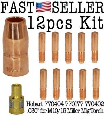 12-pack Kit Hobart 770404 770180 770402 .030 For M1015 Miller Mig Torch 169716