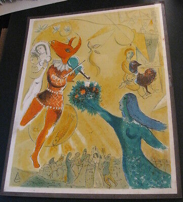 """Vintage (1952) """"Sealed Art Print"""" CHAGALL, """"The Dance"""""""
