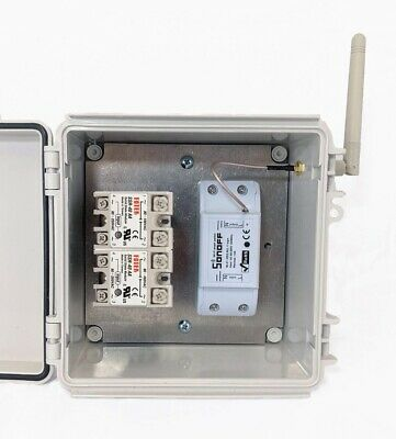 Wifi Silent Solid State Relay 2 Pole 40a 3hp Pump Heater Switch 120v Or 240vac