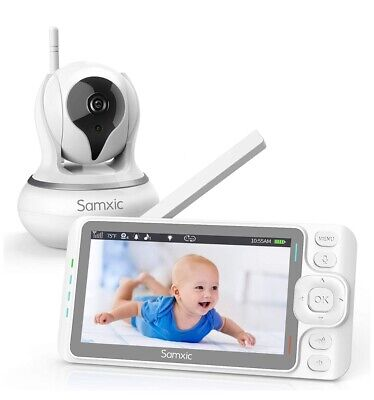 Samxic Video Baby Monitor with 720P Camera, 5 Inches Display