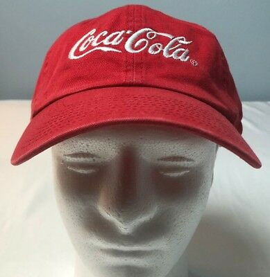 VTG COCA COLA ATLANTA red strap-back cap buckle NEW OLD STOCK