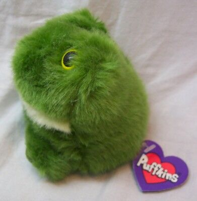 """Puffkins LILY THE GREEN FROG 4"""" Plush STUFFED ANIMAL Toy NEW 1994"""
