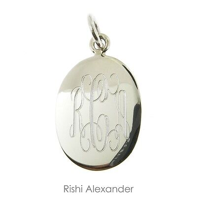 925 Sterling Silver Monogram Personalized Oval -