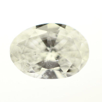 GIA Graded 0.48 Carat Loose Oval Diamond G I1 Natural Untreated 1/2 ct  ()
