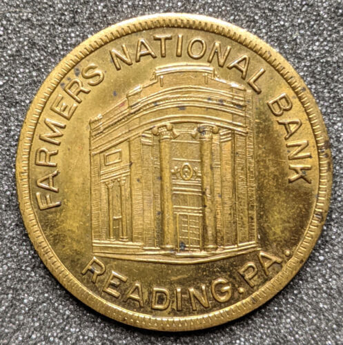 Farmers National Bank Reading Pennsylvania So-called Half Dollar Safe Deposit