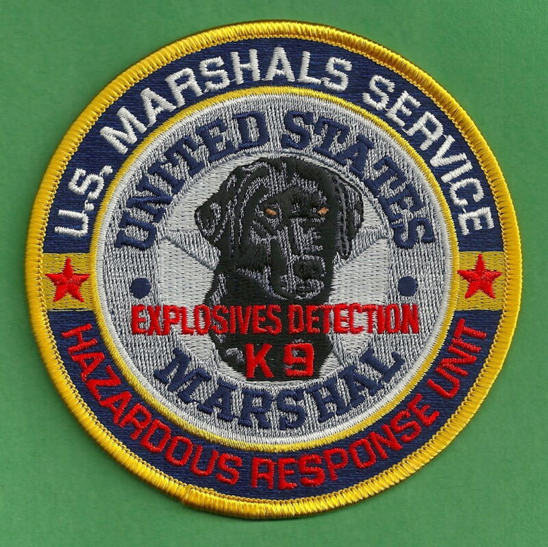 U.S. MARSHAL SERVICE EXPLOSIVES K-9 UNIT SHOULDER PATCH
