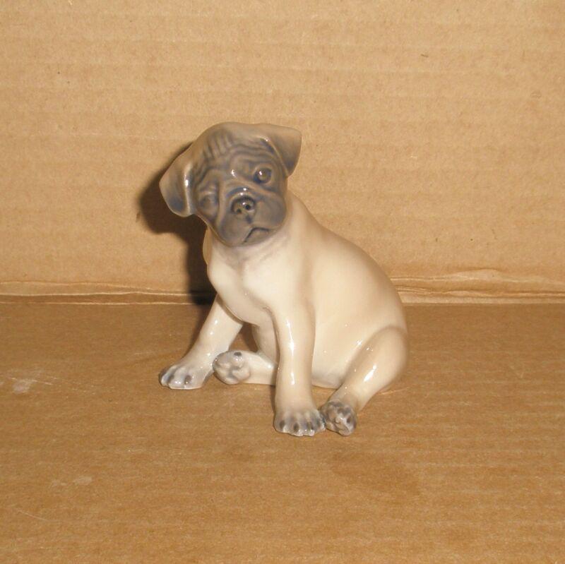 Royal Copenhagen Dog Figurine Pug Puppy