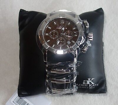 Used, Adee Kaye Men's Quartz Chronograph AK2224-M SILVER /BLACK /BROWN DIAL NEW for sale  Shipping to South Africa