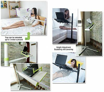 "Height adjusting bed/floor stand+cooling fan for laptop(10-17"") /tablet/iPAD Pro"